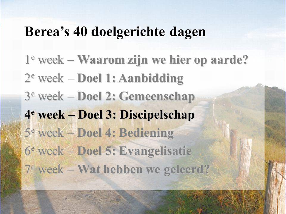 Berea's 40 doelgerichte dagen