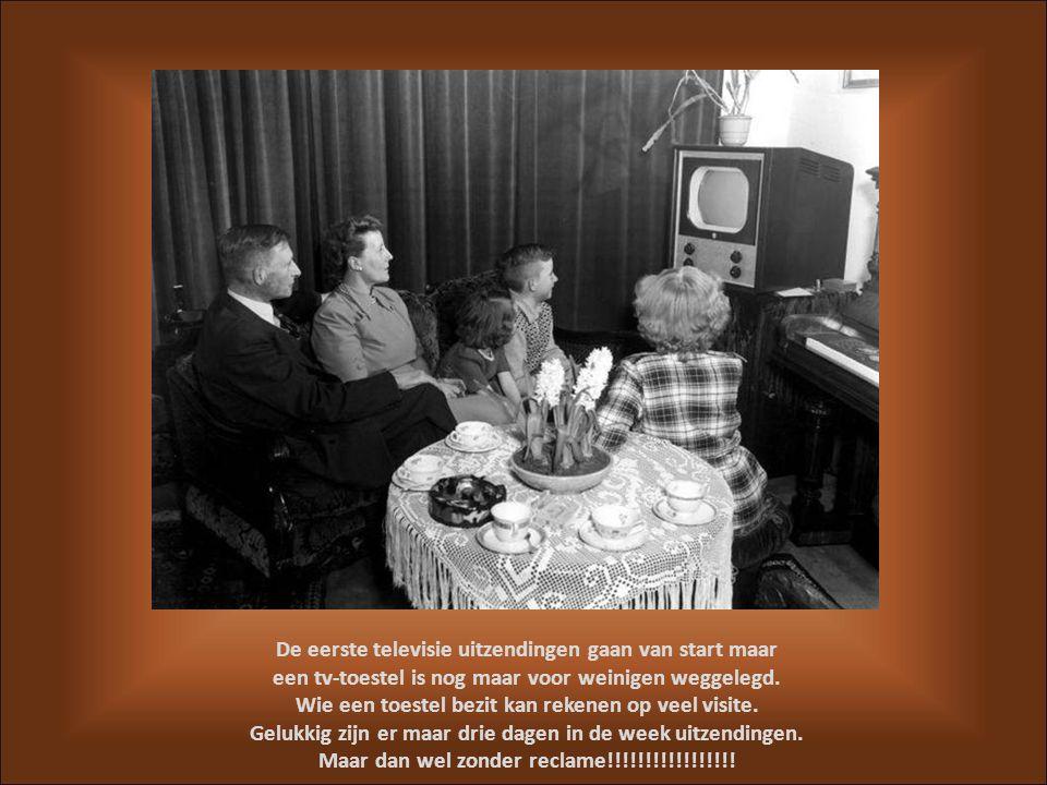 De eerste televisie uitzendingen gaan van start maar