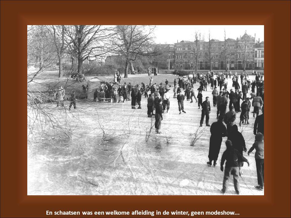En schaatsen was een welkome afleiding in de winter, geen modeshow...