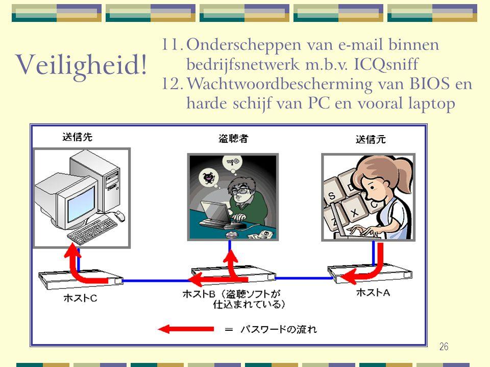 Onderscheppen van e-mail binnen bedrijfsnetwerk m.b.v. ICQsniff