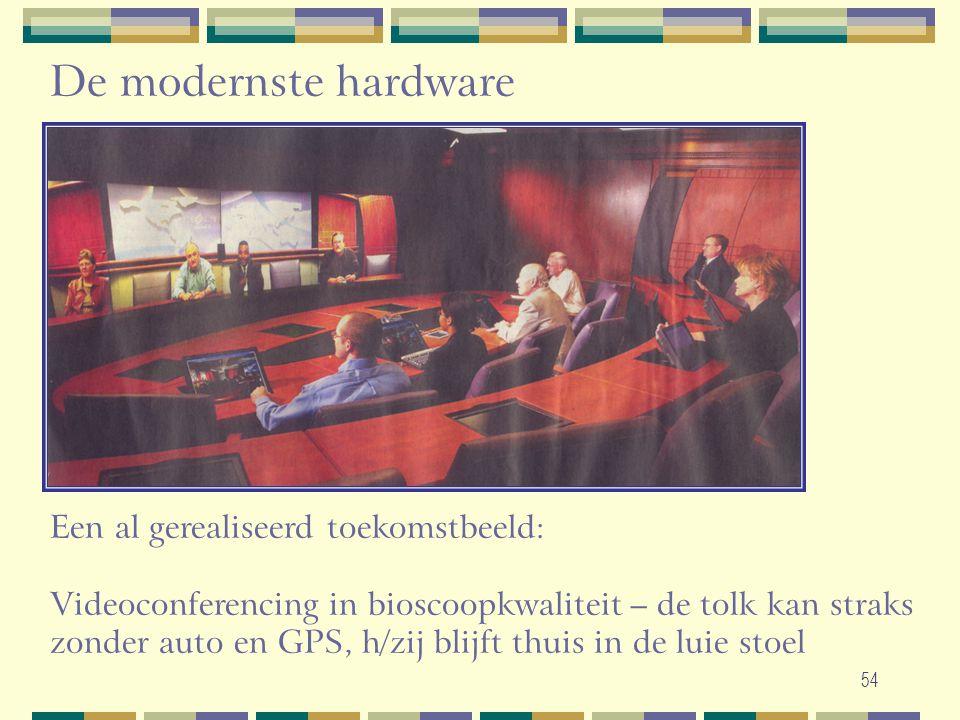 De modernste hardware Een al gerealiseerd toekomstbeeld: