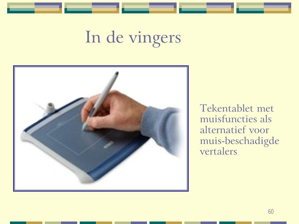 In de vingers Tekentablet met muisfuncties als alternatief voor muis-beschadigde vertalers.