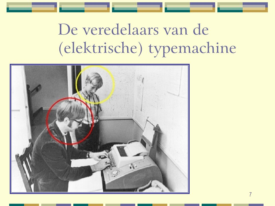 De veredelaars van de (elektrische) typemachine