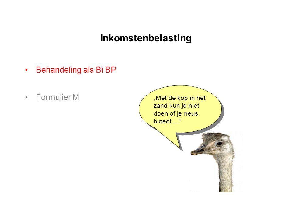 Inkomstenbelasting Behandeling als Bi BP Formulier M