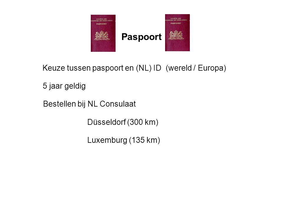 Paspoort Keuze tussen paspoort en (NL) ID (wereld / Europa)