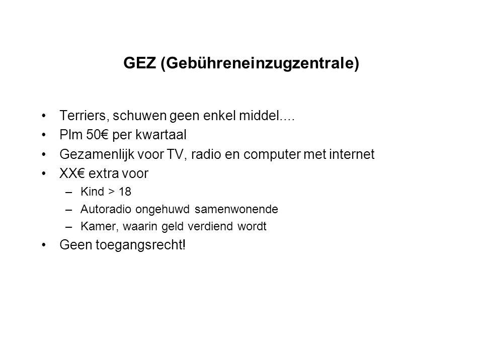 GEZ (Gebühreneinzugzentrale)