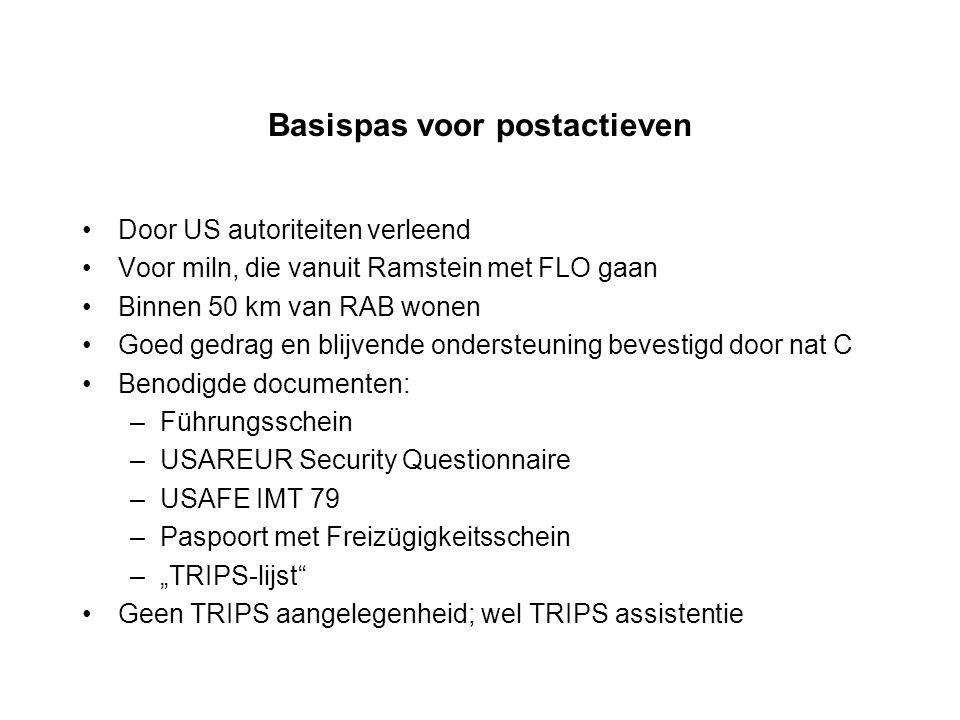 Basispas voor postactieven