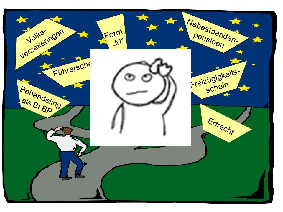 """Form. """"M Nabestaanden- pensioen. verzekeringen. Volks- Führerschein. Freizügigkeits- schein."""