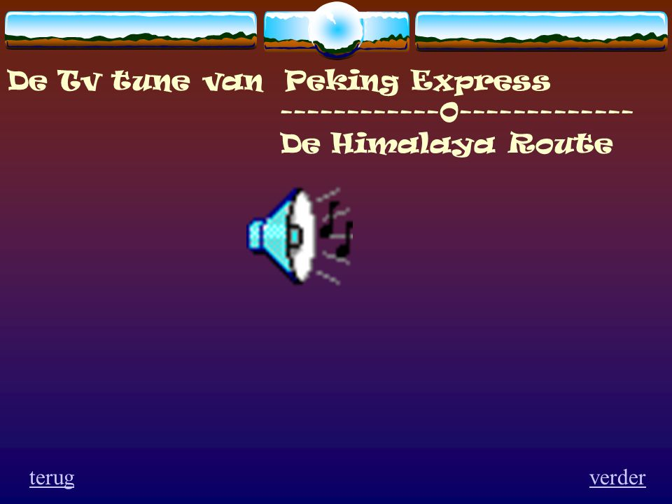 De Tv tune van Peking Express ------------0-------------