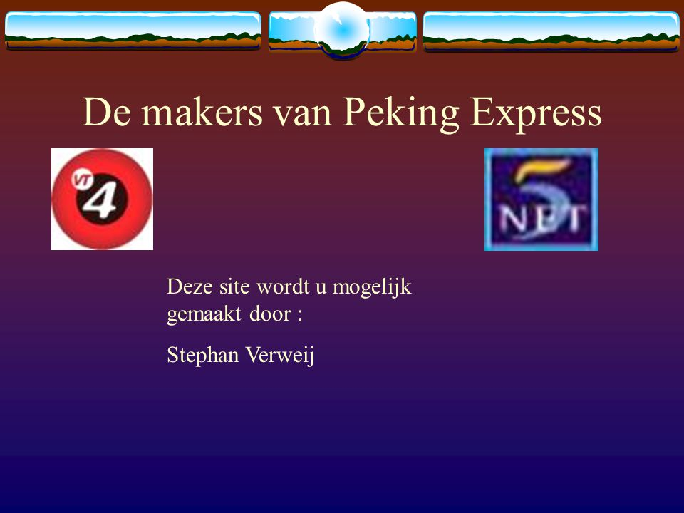 De makers van Peking Express