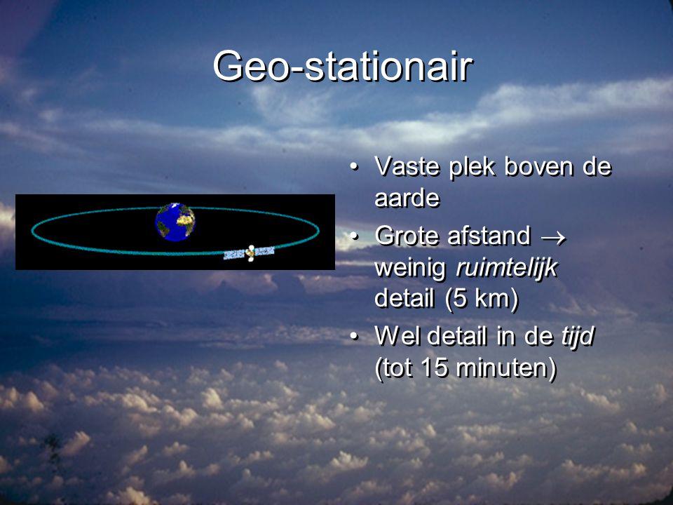 Geo-stationair Vaste plek boven de aarde