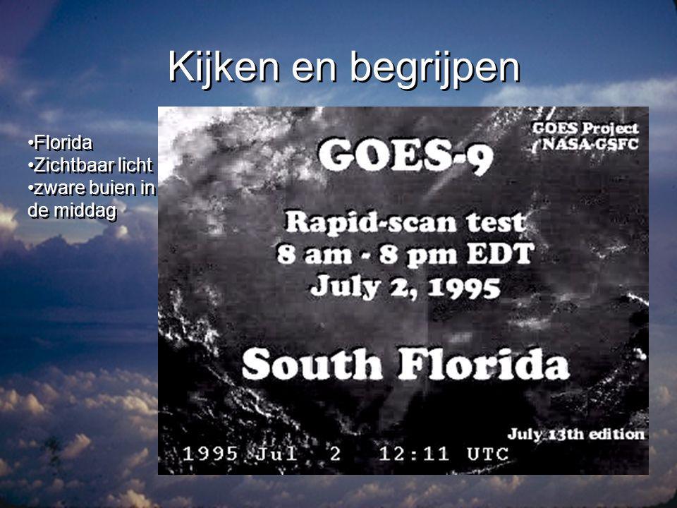 Kijken en begrijpen Florida Zichtbaar licht zware buien in de middag