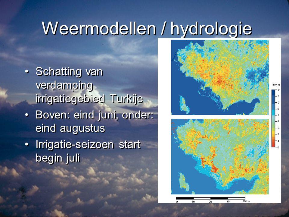 Weermodellen / hydrologie