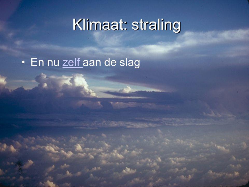 Klimaat: straling En nu zelf aan de slag