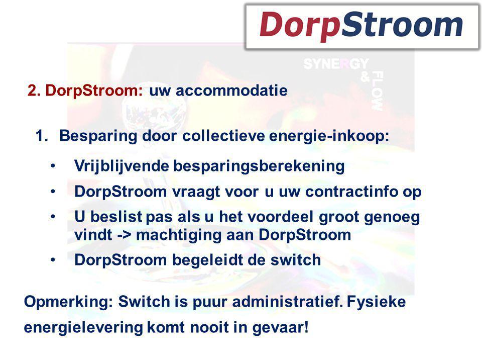 2. DorpStroom: uw accommodatie