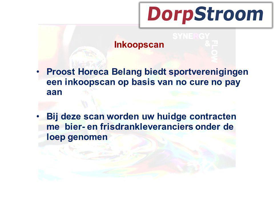 Inkoopscan Proost Horeca Belang biedt sportverenigingen een inkoopscan op basis van no cure no pay aan.