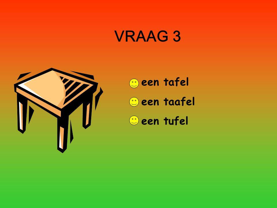 VRAAG 3 een tafel een taafel een tufel