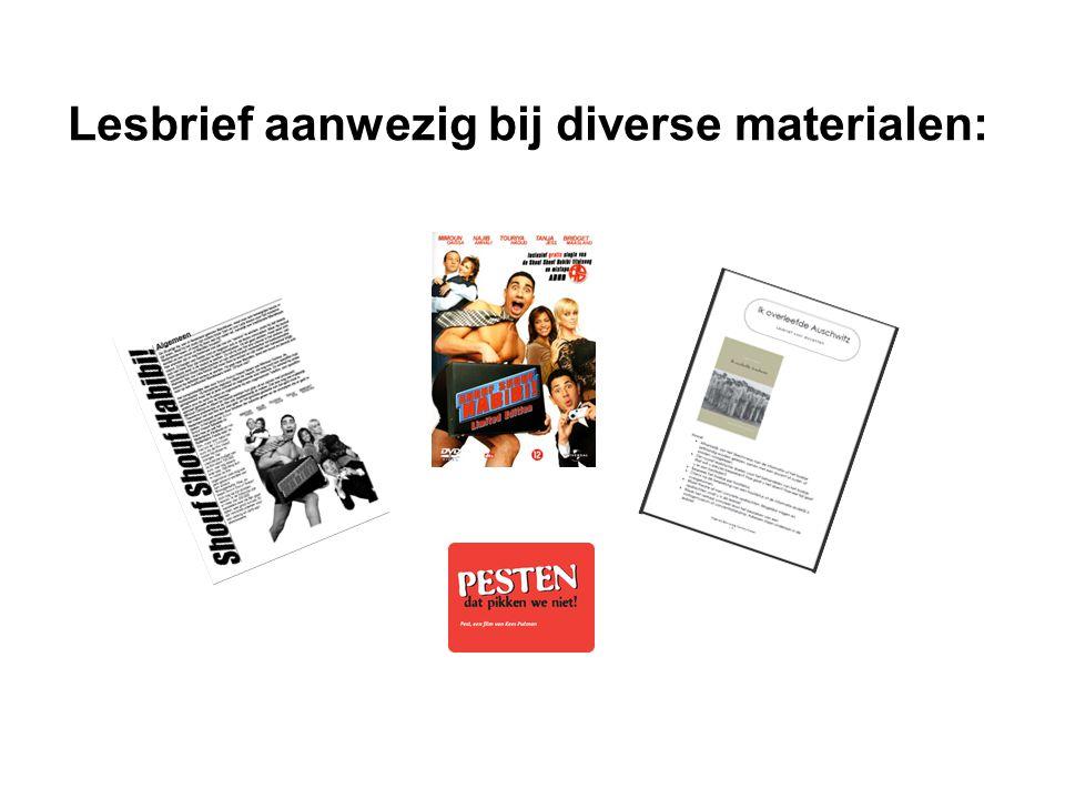 Lesbrief aanwezig bij diverse materialen: