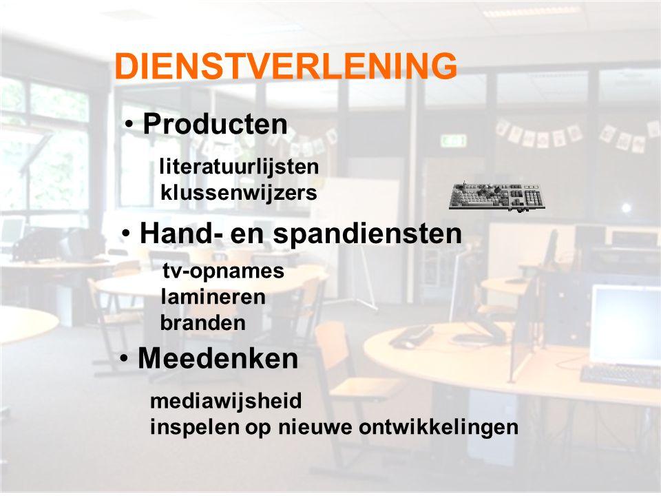 DIENSTVERLENING Producten Hand- en spandiensten Meedenken