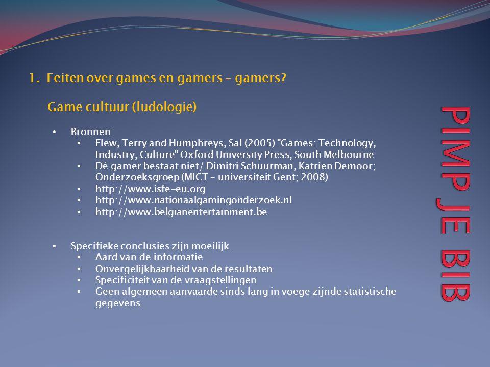 PIMP JE BIB Feiten over games en gamers – gamers