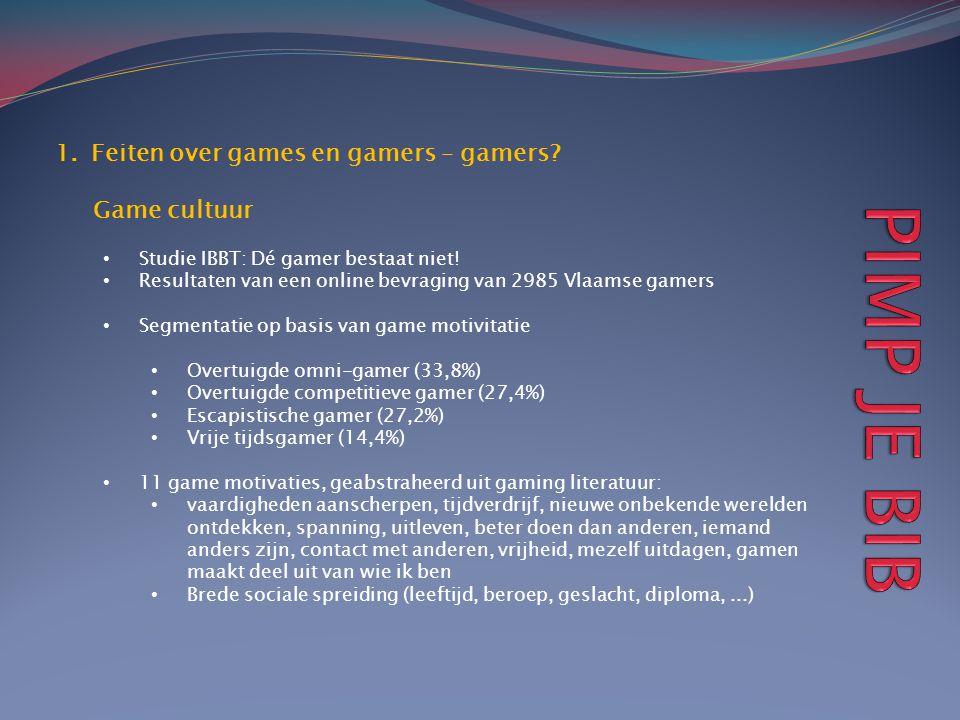 PIMP JE BIB Feiten over games en gamers – gamers Game cultuur