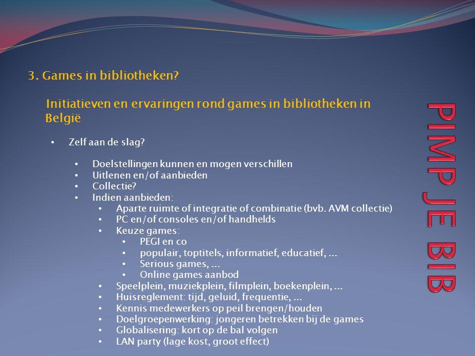 PIMP JE BIB 3. Games in bibliotheken