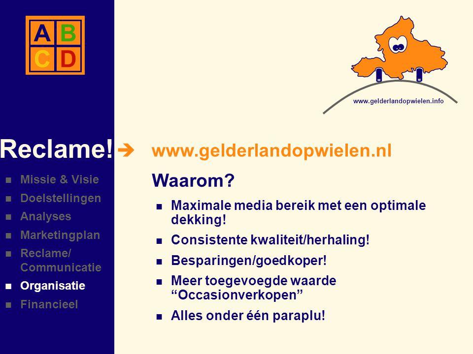 Reclame! A B C D www.gelderlandopwielen.nl Waarom