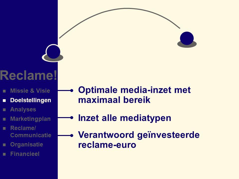 Reclame! Optimale media-inzet met maximaal bereik