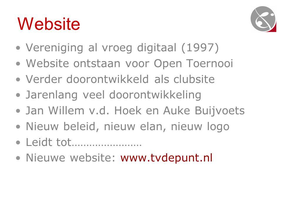 Website Vereniging al vroeg digitaal (1997)