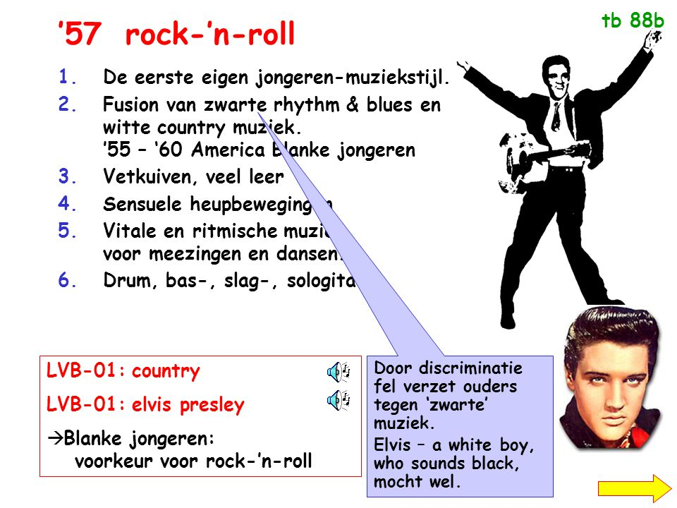 '57 rock-'n-roll tb 88b De eerste eigen jongeren-muziekstijl.
