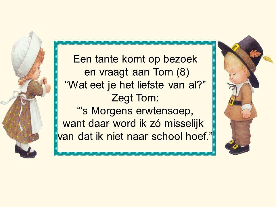 Een tante komt op bezoek en vraagt aan Tom (8)