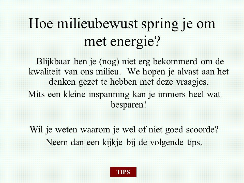 Hoe milieubewust spring je om met energie