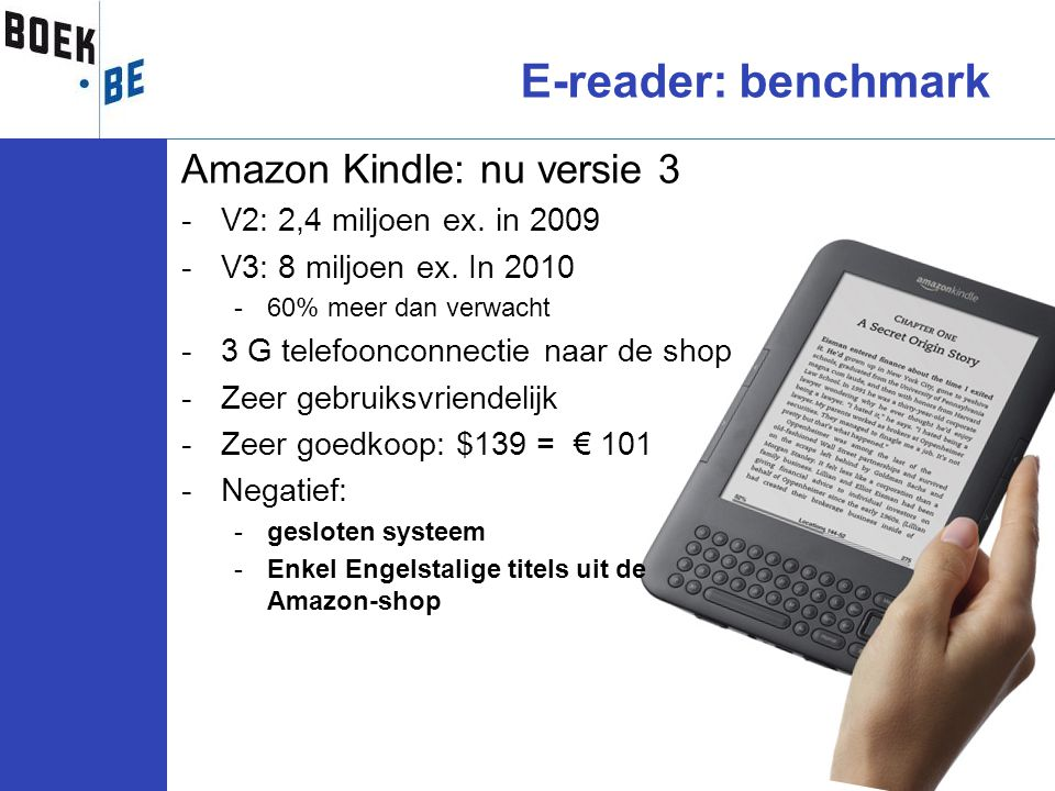 E-reader: benchmark Amazon Kindle: nu versie 3