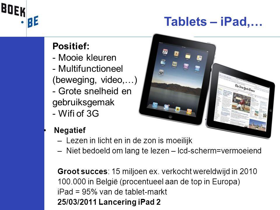 Tablets – iPad,… Positief: Mooie kleuren