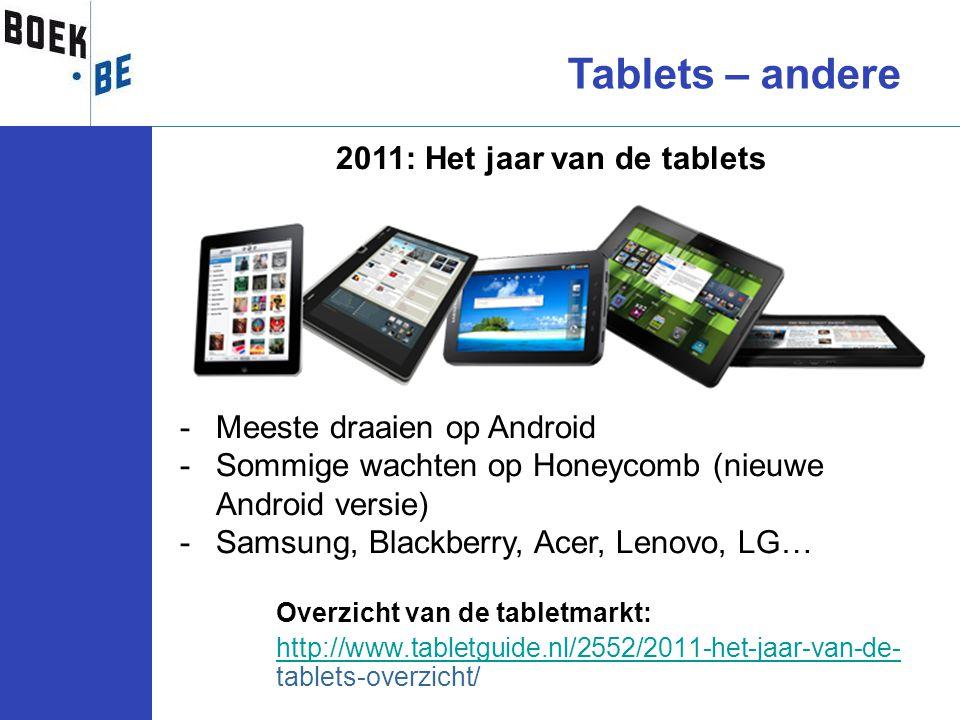 2011: Het jaar van de tablets