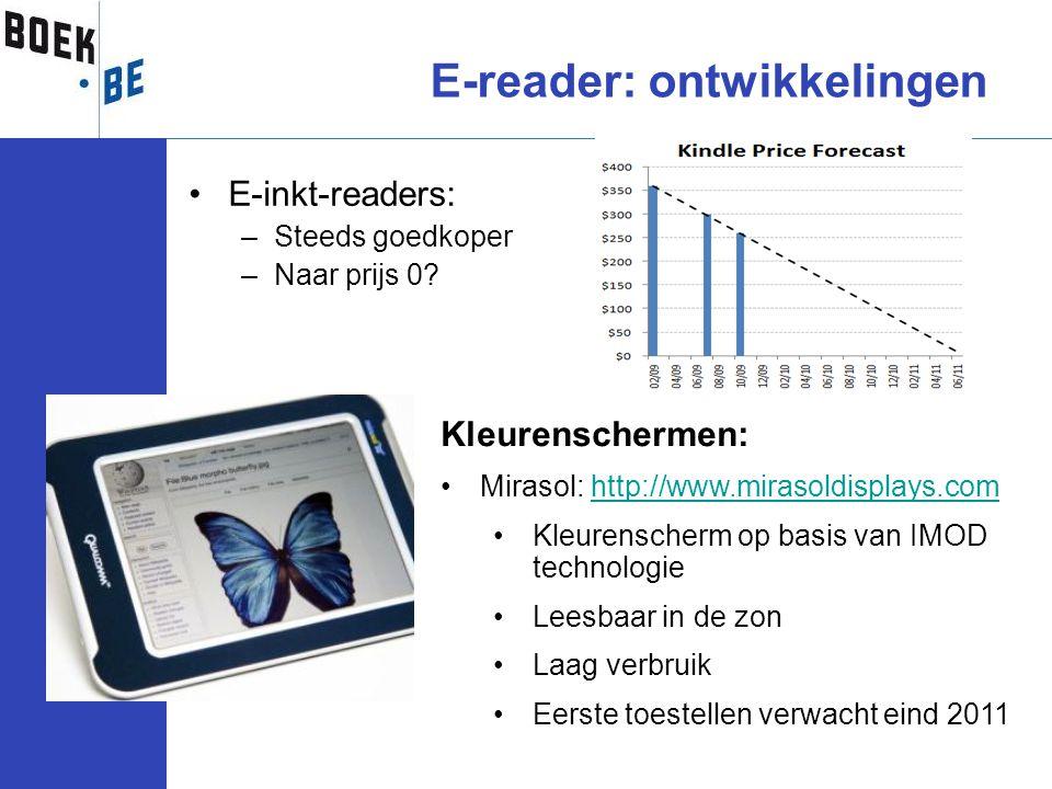 E-reader: ontwikkelingen