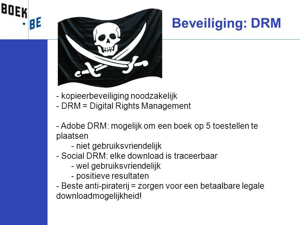 Beveiliging: DRM kopieerbeveiliging noodzakelijk