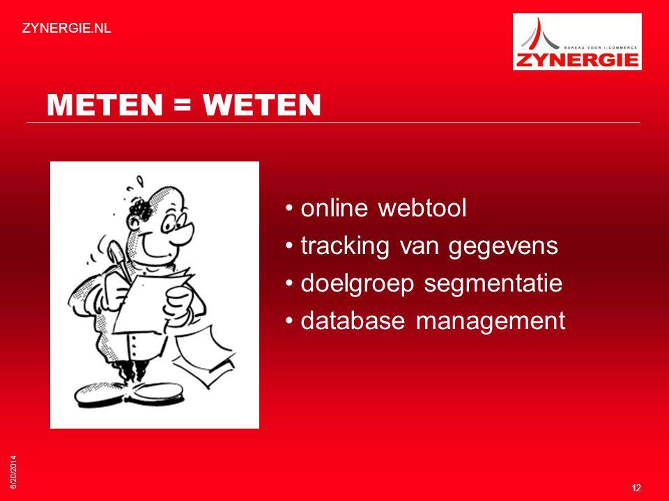 METEN = WETEN • online webtool • tracking van gegevens