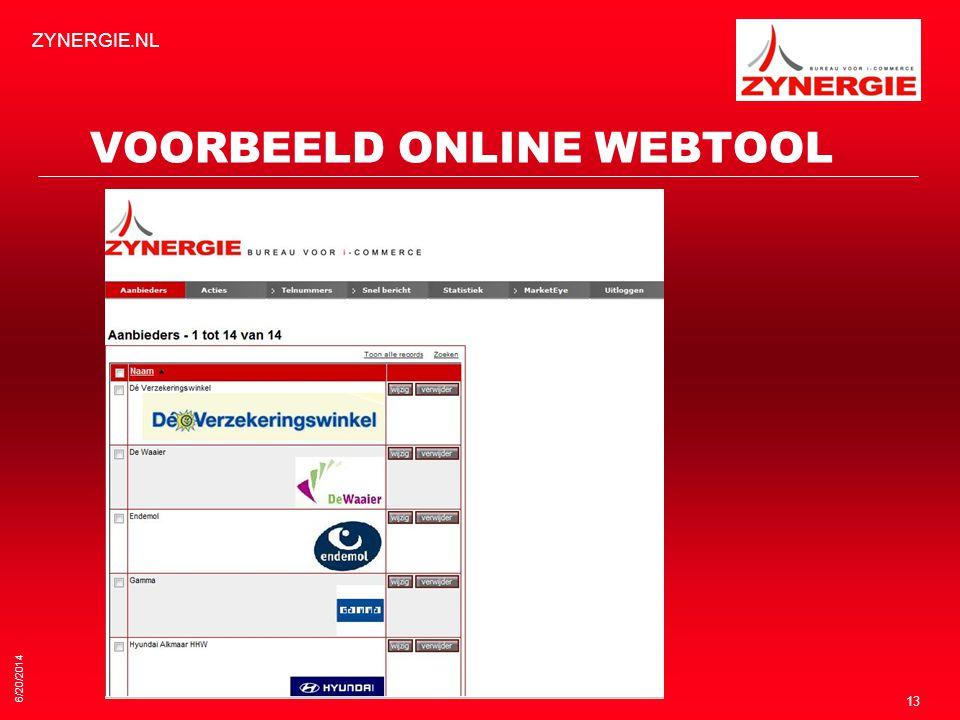 VOORBEELD ONLINE WEBTOOL