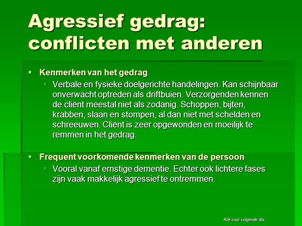 Agressief gedrag: conflicten met anderen