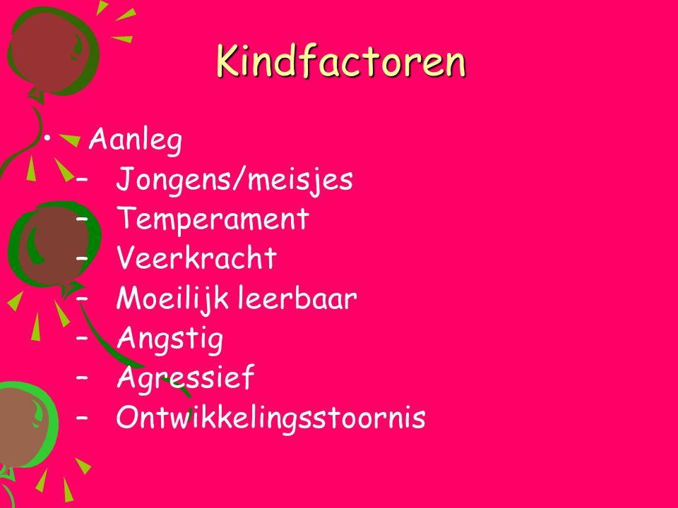Kindfactoren Aanleg Jongens/meisjes Temperament Veerkracht