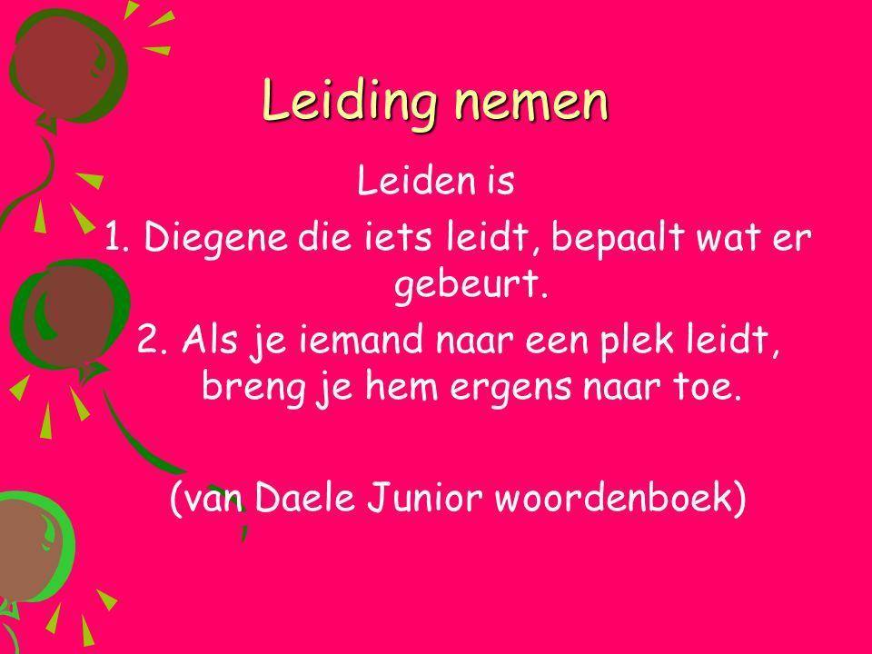 Leiding nemen Leiden is