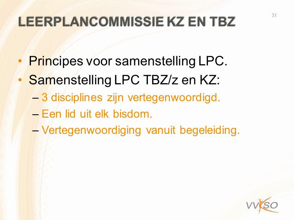 Leerplancommissie KZ en TBZ