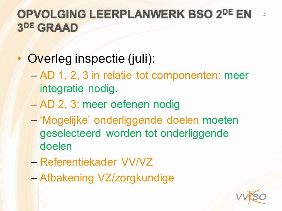 Opvolging leerplanwerk bso 2de en 3de graad