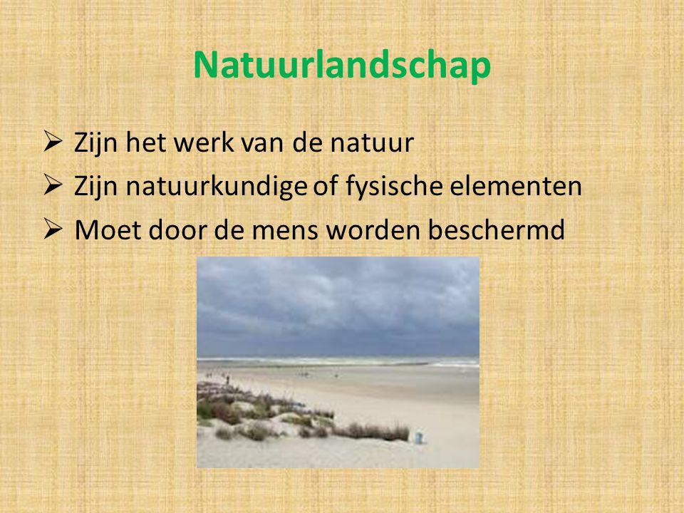 Natuurlandschap Zijn het werk van de natuur