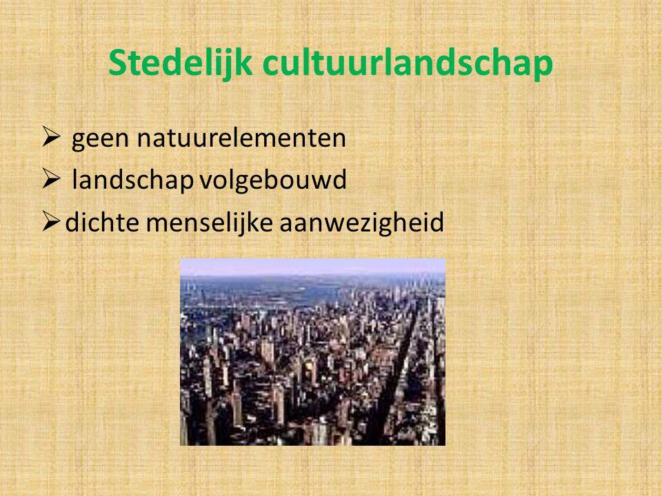 Stedelijk cultuurlandschap