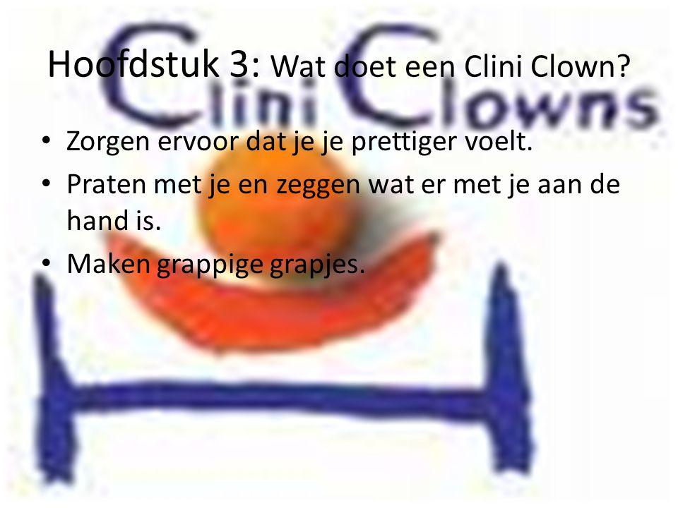 Hoofdstuk 3: Wat doet een Clini Clown