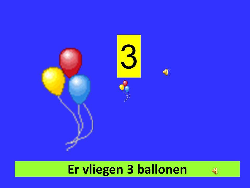 3 Er vliegen 3 ballonen
