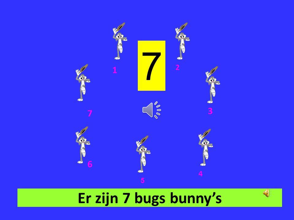 7 1 2 3 7 6 4 5 Er zijn 7 bugs bunny's