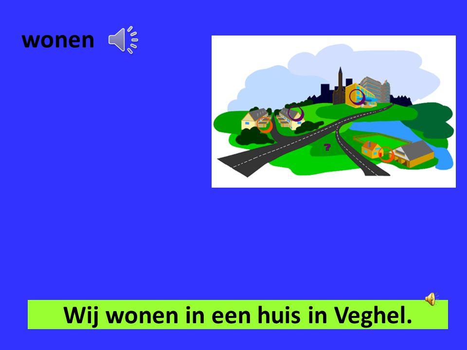 Wij wonen in een huis in Veghel.